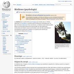 Résilience (psychologie)