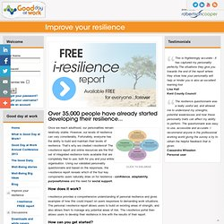 i-resilience FREE report - Robertson Cooper