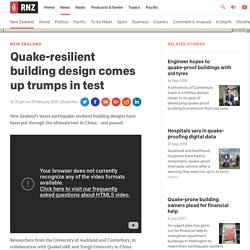 Quake-resilient building design comes up trumps in test
