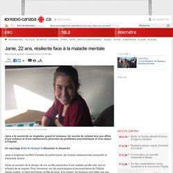 Janie, 22 ans, résiliente face à la maladie mentale