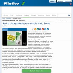 ECOVIO de Basf. Resina biodegradable