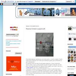 Resina Cristal e papercraft