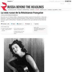 La voix russe de la Résistance française