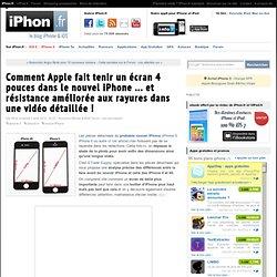 Comment Apple fait tenir un écran 4 pouces dans le nouvel iPhone ... et résistance améliorée aux rayures dans une vidéo détaillée ! - iPhone 6, 6 Plus, iPad