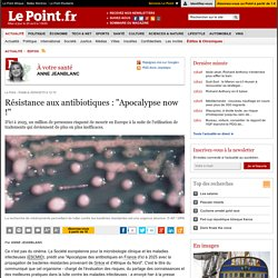 """Résistance aux antibiotiques : """"Apocalypse now !"""""""