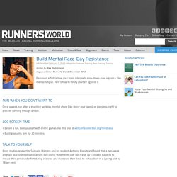 Build Mental Race-Day Resistance - Runner's World Australia and New Zealand