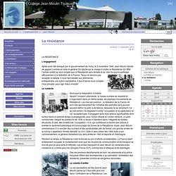 La résistance - Collège Jean Moulin Toulouse