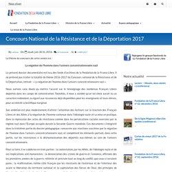 » Concours National de la Résistance et de la Déportation 2017