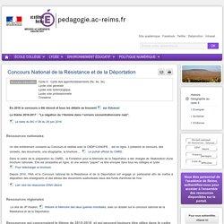 Enseigner Hist-Géo cycle 4 - Concours National de la Résistance et de la Déportation