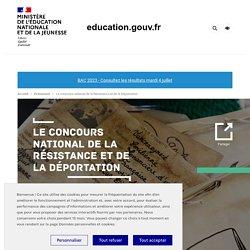 Le concours national de la Résistance et de la Déportation