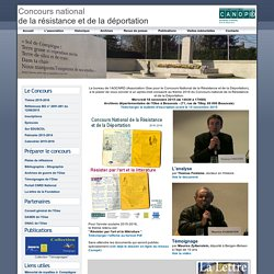 Concours national de la résistance et de la déportation 2011-2012