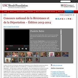 Concours national de la Résistance et de la Déportation – Édition 2013-2014