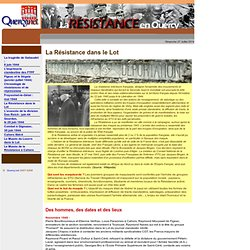 R sistance en Quercy