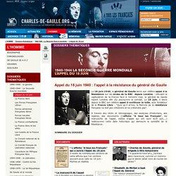 Appel du 18 juin 1940 : l'appel à la résistance du général de Gaulle