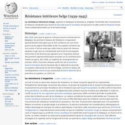 Résistance intérieure belge (1939-1945)