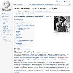 Femmes dans la Résistance intérieure française