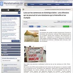 Lois sur les semences en Amérique latine : une offensive qui se poursuit et une résistance qui s'intensifie et se multiplie