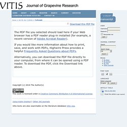 JOURNAL OF GRAPEVINE RESERACH - 2016 - Evidence of resistance to the downy mildew agent Plasmopara viticola in the Georgian Vitis vinifera germplasm