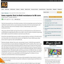 AGPROFESSIONAL 05/08/11 Iowa reports first in-field resistance to Bt corn