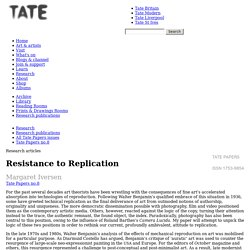 Resistance to Replication