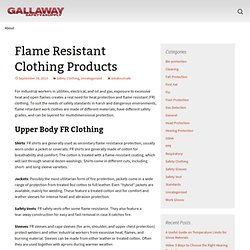 Flame Resistant Clothing Products