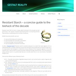 Resistant Starch – a concise guide to the biohack of the decade