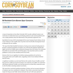 CORN AND SOY BEAN DIGEST 30/08/11 Bt Resistant Corn Borers Spur Concerns