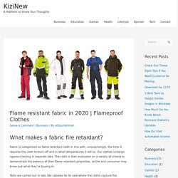 Flame resistant fabric in 2020