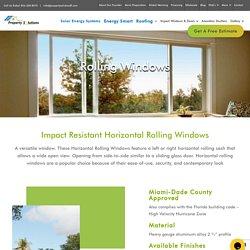 Impact Resistant Horizontal Rolling Shutters Windows Miami