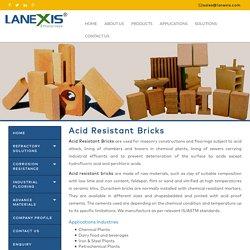 Acid resistant bricks, Acid proof bricks manufacturers & exporter, India