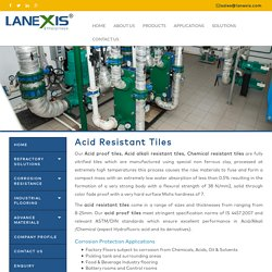 Acid resistant tiles, Acid proof tiles manufacturers, Acid alkali tiles, India