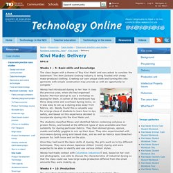 Delivery / Kiwi made / Resistant materials - hard / Classroom practice case studies / Case studies / Resources / Welcome to Technology Online - Technology Online