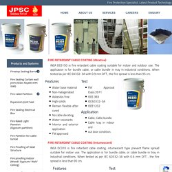 Fire Resistant Paint India, Fire Retardant Cable Coating - JPSC Solutions