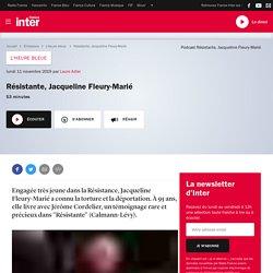 Résistante, Jacqueline Fleury-Marié