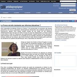 La France est-elle résistante aux réformes éducatives ?