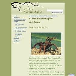 B- Des matériaux plus résistants - TPE : le biomimétisme