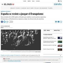 España se resiste a juzgar el franquismo