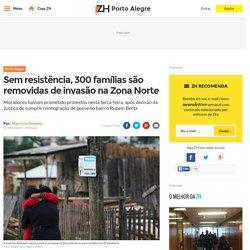 Sem resistência, 300 famílias são removidas de invasão na Zona Norte