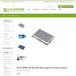 5 inch Resistive Touch Screen LCD, HDMI interface, supports various systems
