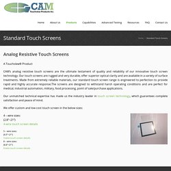 Analog Resistive Touch Screens
