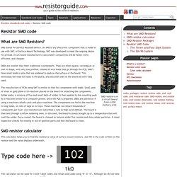 Resistor SMD code » Resistor Guide