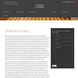GCSE Resits Courses Tutor & GCSE Retake Tuition London