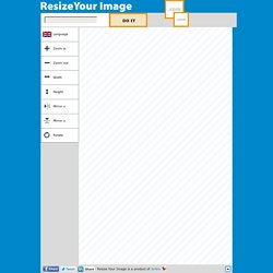 Resize your image or photo online - It's easy, it's free!