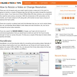 How to Resize a Video or Change Resolution
