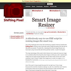 PHP image resizing on the fly