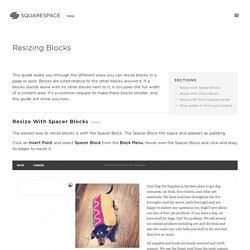Resizing Blocks