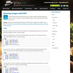 Resizing images with PHP