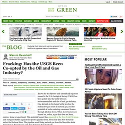 Marvin Resnikoff: Fracking: Has the USGS Been Co-opted by the Oil and Gas Industry?