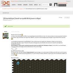 [2D Isométrique] Savoir sur quelle tile le joueur a cliqué