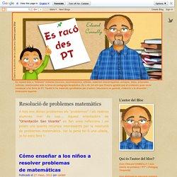 Resolució de problemes matemàtics - EL RINCÓN DEL PT